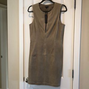 Theory NEW Lamb Suede Leather Dress